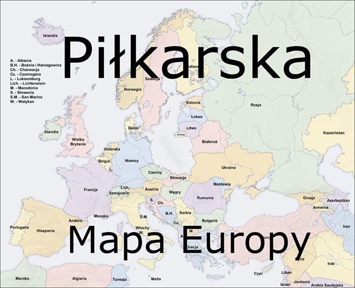 Piłkarska Mapa Europy Sadisticpl