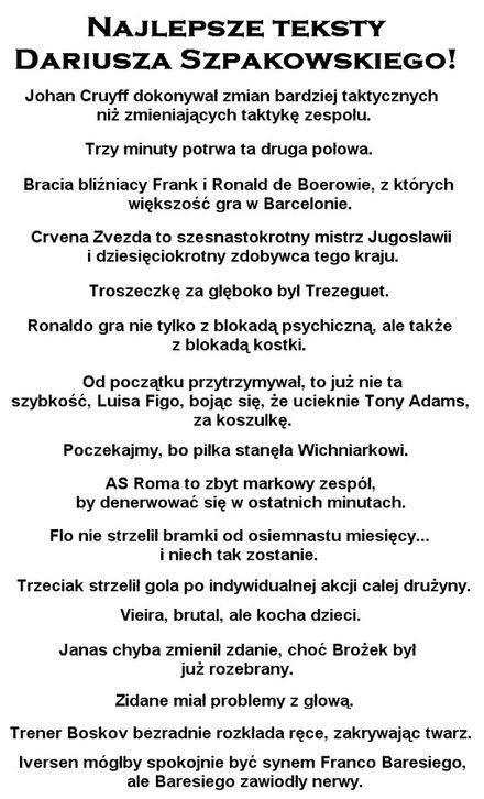Najlepsze Teksty Dszpakowskiego Sadisticpl